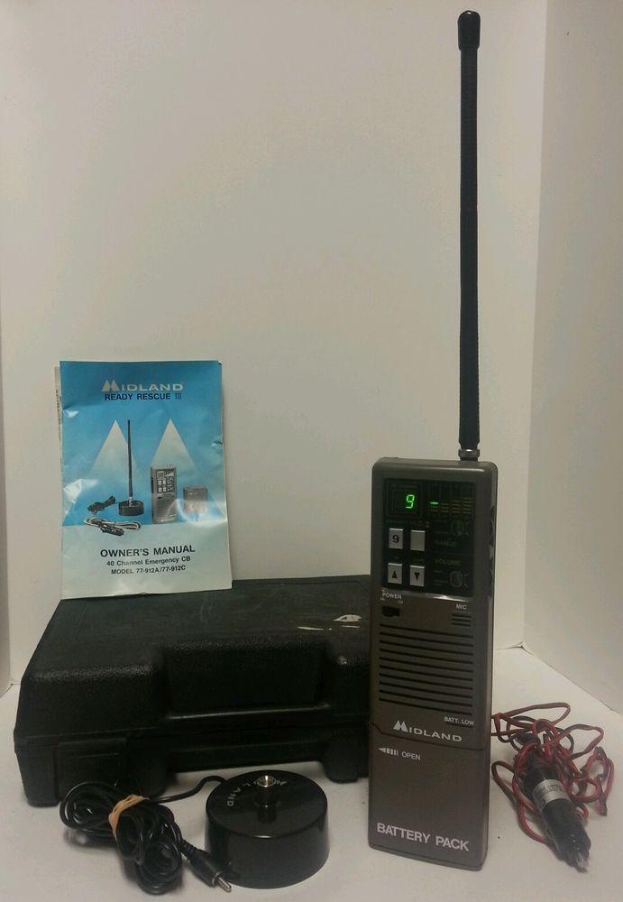 Midland Ready Rescue 3 CB Radio 77-912A 40-Channel Portable/Handheld Transceiver #Midland