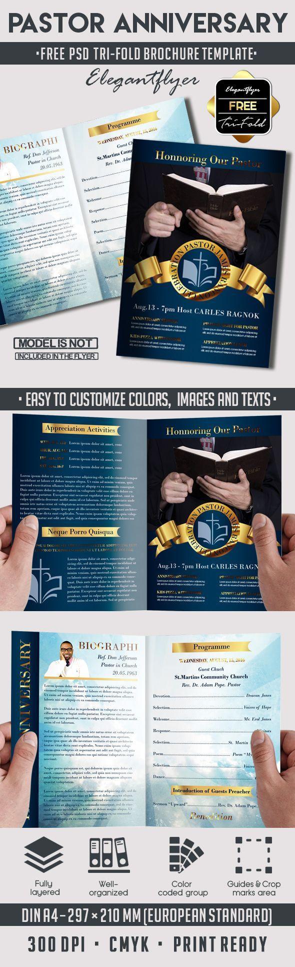 Pastor Anniversary Service Program – Free Bi-Fold PSD Brochure Template https://www.elegantflyer.com/free-psd-brochure-templates/pastor-anniversary-service-program-free-bi-fold-psd-brochure-template/