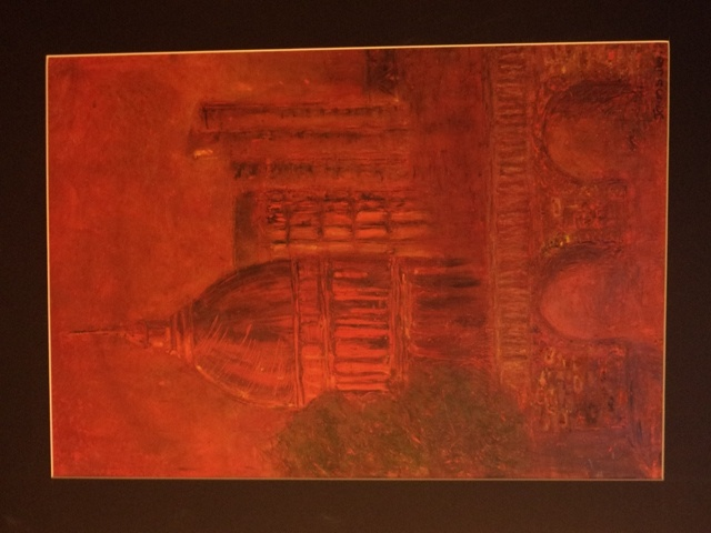 Red City  Oil pastel on paper