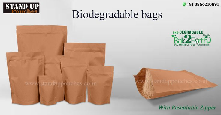 """#StandUpPouches is a major contributor to the production of #ecofriendlybags. We have started production line """"#Bak2earth"""" or return to the ground. Both are only available in #paperbrownbags,"""
