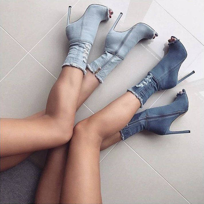 Jean High Heels 1