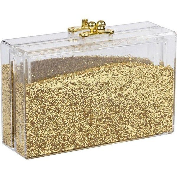 Sparkles Clutch (23,995 DOP) ❤ liked on Polyvore featuring bags, handbags, clutches, brown handbags, sparkly handbags, sparkly purses and brown purse