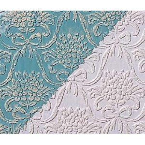 White Paintable Embossed Wallpaper | Textured  - front entry way