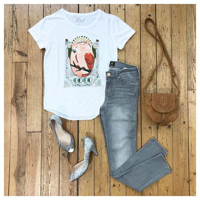 BONNY Clothes&more - shop in Lyon   T-shirt Leon and harper / Jeans scarlett Lee / Escarpins Gaby Patricia Blanchet / Sac Sessun