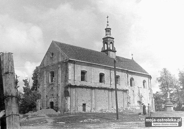 Ostrołęka w latach 50-tych (fot. czytelnik Przemysław)/006 - Galeria zdjęć - Moja Ostrołęka - lepsza strona miasta(kosciol Farny)