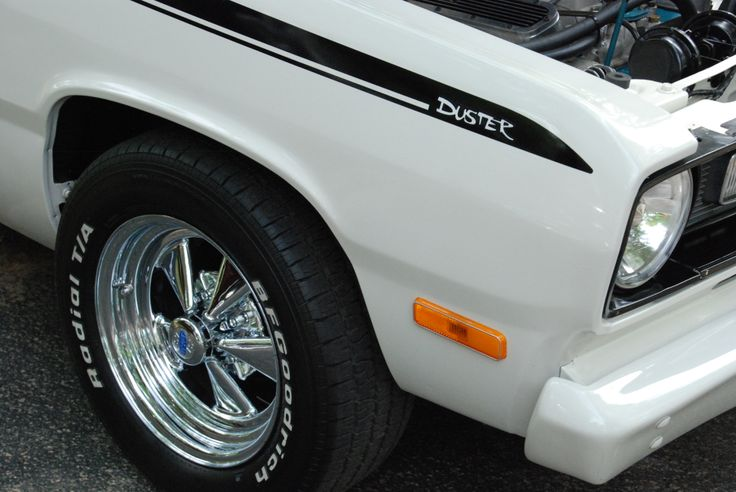 White Black Plymouth Duster With Classic Cragar Wheels