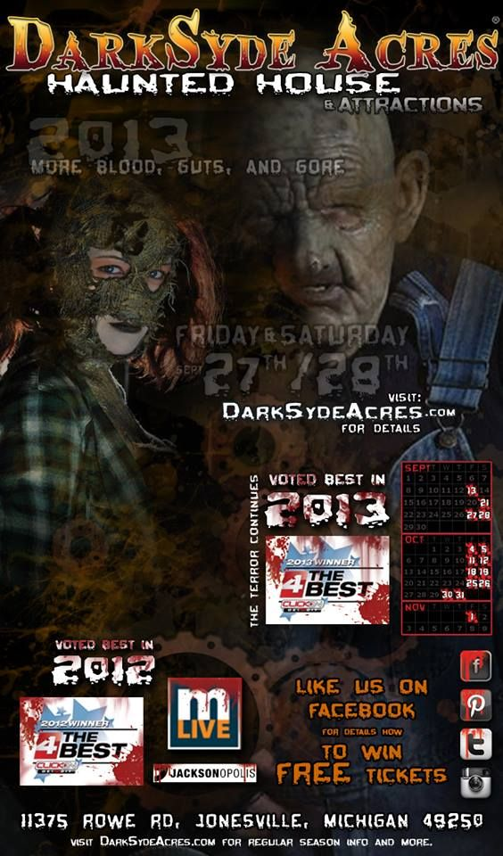 DarkSyde Acres Haunted House was voted the BEST in 2012 as well as 2013 Thats right DarkSyde acres Haunted House was voted the best haunted house in Metr