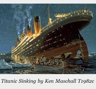 Titanic Going Under Titanic Pinterest
