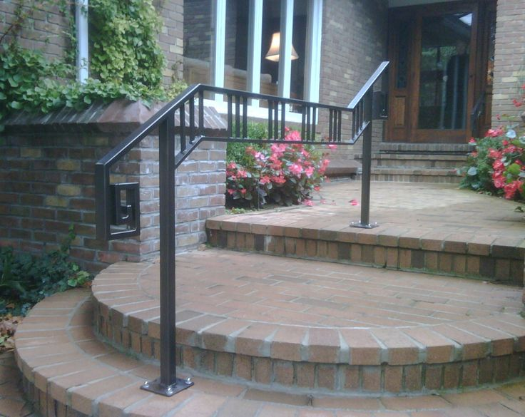 Wrought iron or aluminum railings google search - Exterior wrought iron handrails for steps ...