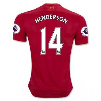 Liverpool 16-17 Jordan Henderson 14 Hemmatröja Kortärmad  #Fotbollströjor