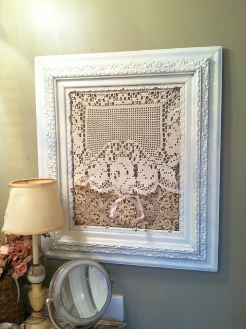 cindysfracturedfairytale.blogspot: Fractured Fairy Tales, Crochet Rose, Cindy Fractured, Shabby Chic, Old Frames, Crochet Lace, Filet Crochet, A Frames, Fractured Fairies Tales