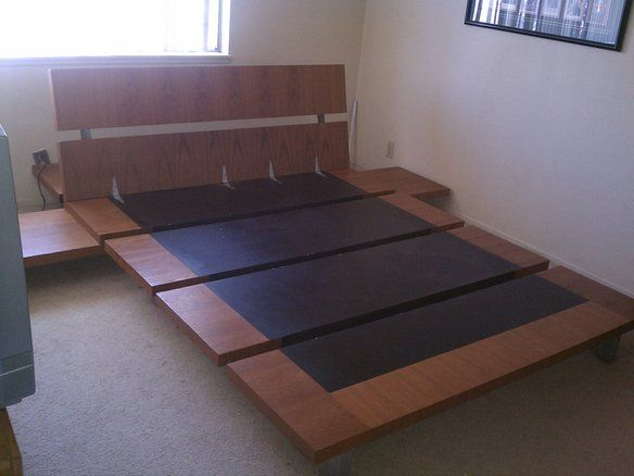 Cool Queen Bed Frame Low To The Ground Style