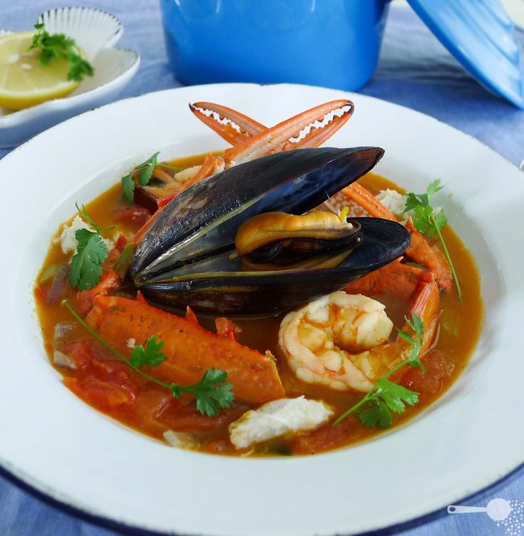 Bouillabaisse, a delicious French seafood soup with a light twist