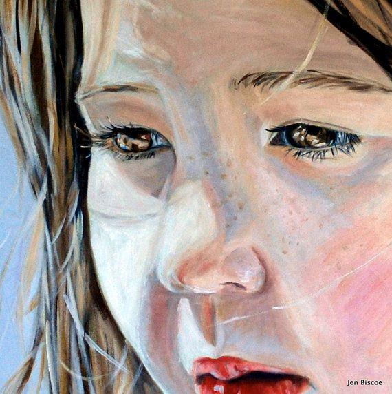 Custom portrait painting oil painting by Jen by ArtByJenBiscoe