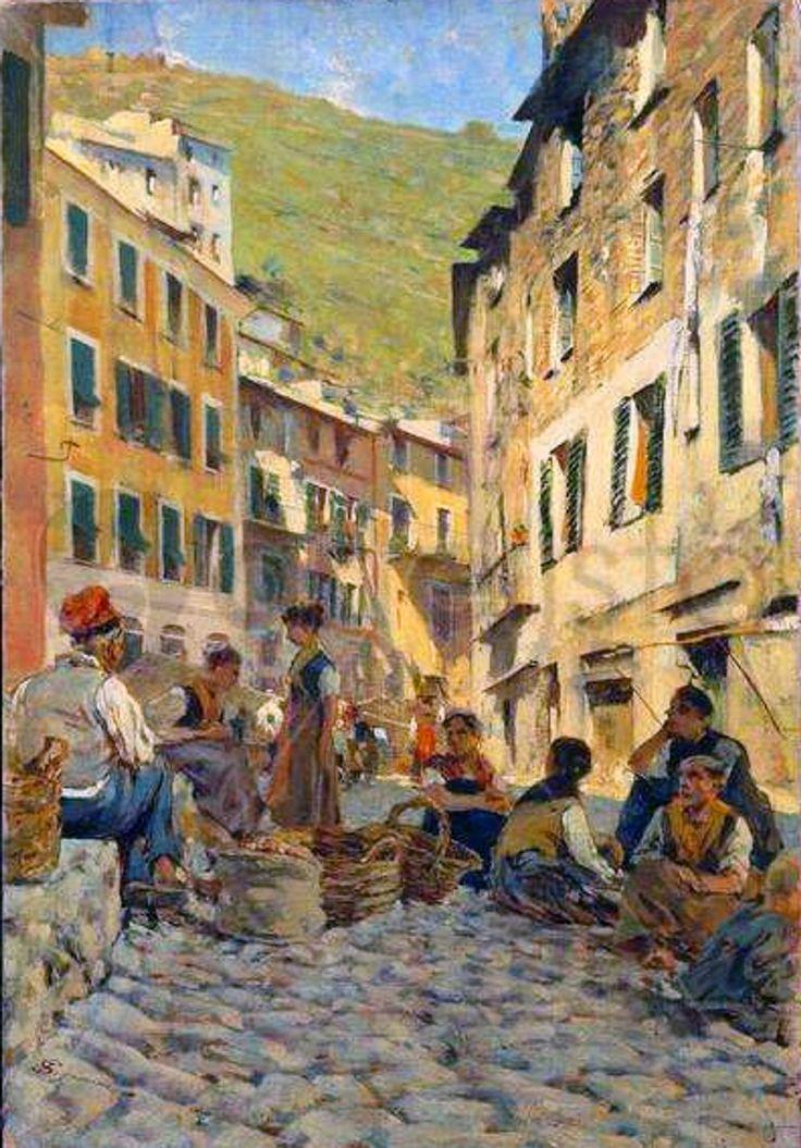 """""""A riposo a Riomaggiore"""" 1892-1894, Telemaco Signorini"""