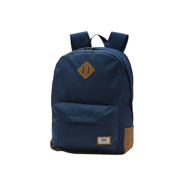 Men's Vans Old Skool Plus Backpack - Dress Blues Back to School (174.540 COP) ❤ liked on Polyvore featuring men's fashion, men's bags, men's backpacks, blue, mens laptop backpack and mens backpacks