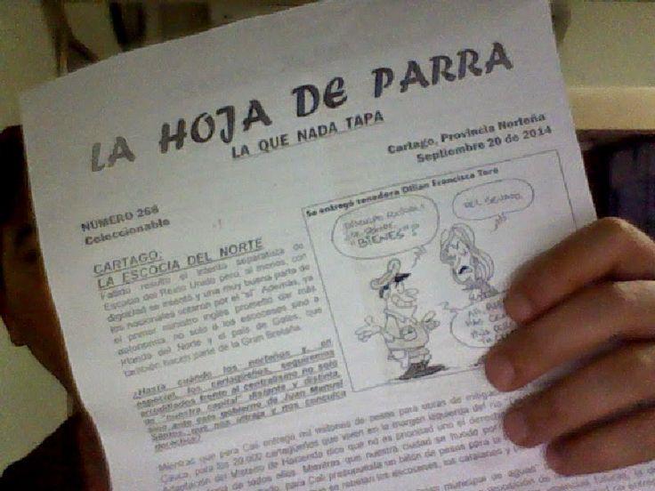 """Vía @JorgeEMoncadaA: La Mejor Hoja De Parra """"La Que Nada Tapa"""" #Cartago #ModaPolitica"""