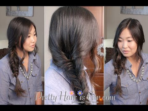Pretty Hair is Fun; Girl's Hairstyles: Loose Side Fishtail Braid;  hair; braids; hairstyles; updos; wedding; prom; homecoming; girls hairstyles; easy hairstyles;