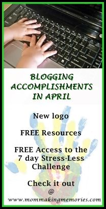 Sharing is caringFollow http://www.mommakingmemories.com/blogging-accomplishments-april/ My initialtitle for this post was blogging adventures in April, but Ichanged it to accomplishments. I guess the little accomplishments along the way are part of the adventure. April was a busy month… just as every other month, and like every other month I wonder at the end where it went. … Continue reading Blogging accomplishments in April →