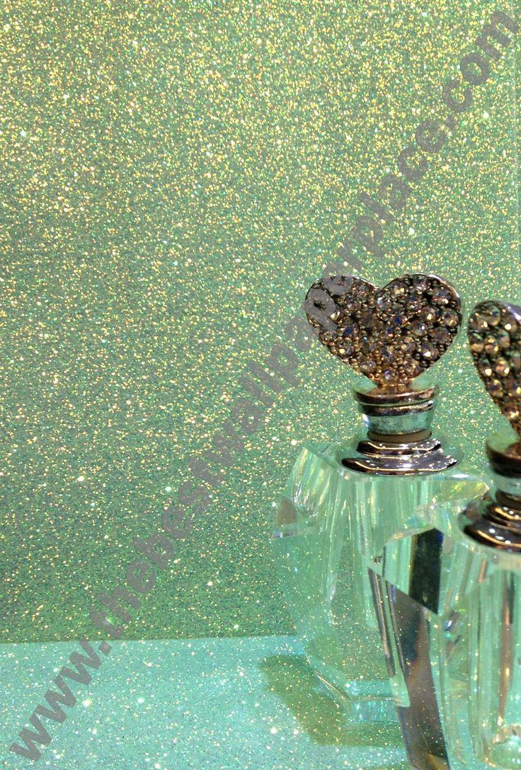 295 best images about glitter wallpaper on pinterest for Glitter bathroom wallpaper