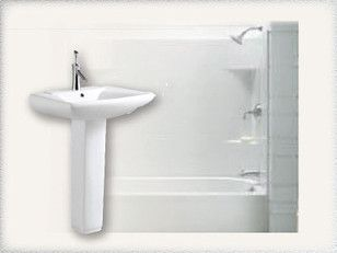 A new bathtub or pedestal sink is a great idea for a renovation project