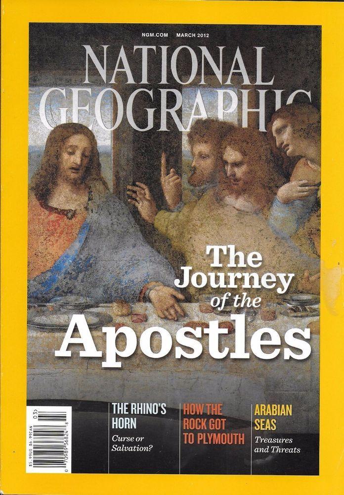 National Geographic magazine Apostles Arabian seas Glacial rocks Rhinos Europe