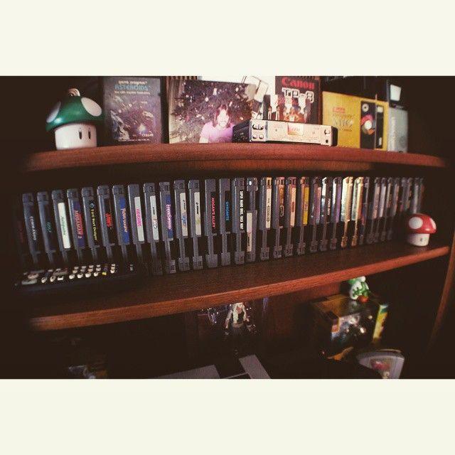 Part.  Of collection.  Still play.  #NES #nintendoentertainmentsystem #80s #1980s #80skids #games #nesgames #nesgamecartridge #idontwannagrowup #theghostinthemachine #analog