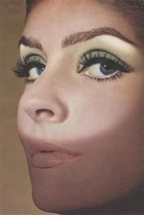 1960's~ I wear this look now! Love the eyebrows!