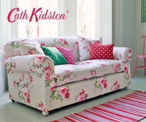 Cath Kidston couch.  Wow!!!                                                                                                                                                                                 More