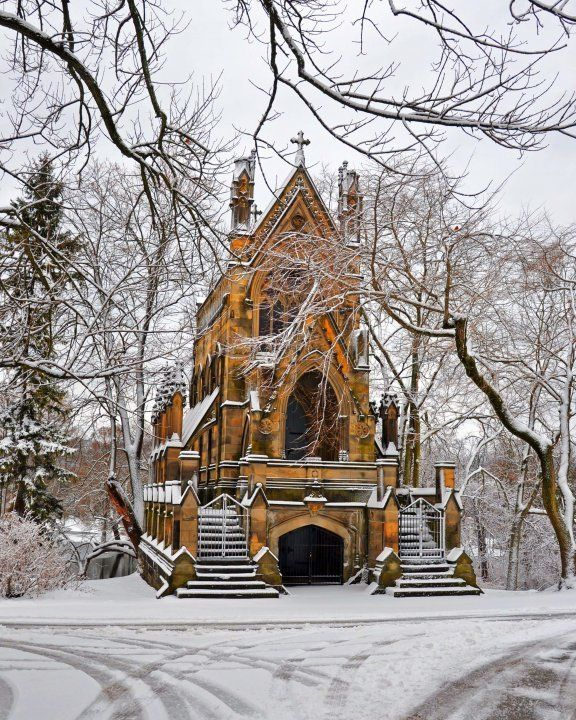 chapel at Spring Grove Cemetery