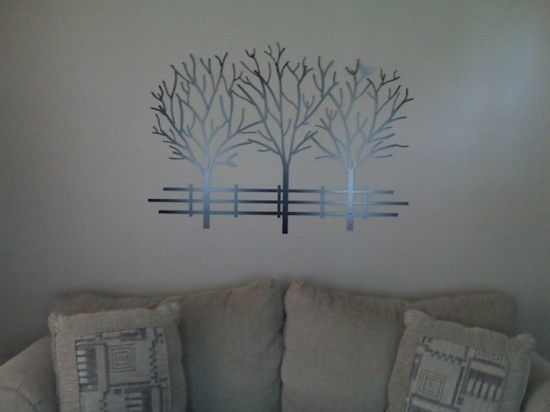 Metal Wall Art On Living Room Design Living Rooms Pinterest
