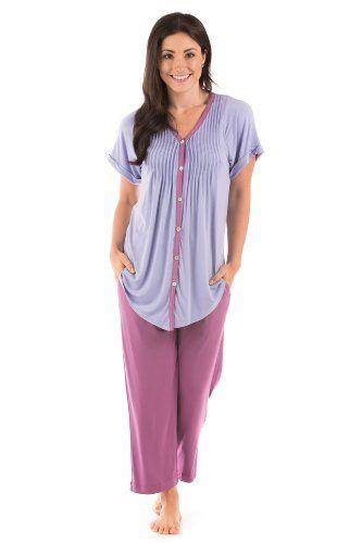 Bamboo Pajamas Clothing Sleepwear for Women (Sweet Paradise); Eco Friendly Sleepwear (95% Bamboo Viscose, 5% Spandex) - So... $59.00