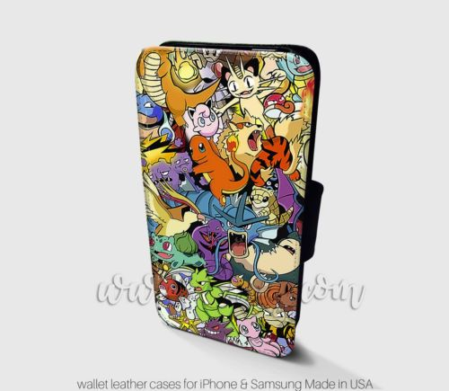 Pokemon-Wallet-iPhone-Cases-All-character-Samsung-Wallet-Leather-Phone-Cases