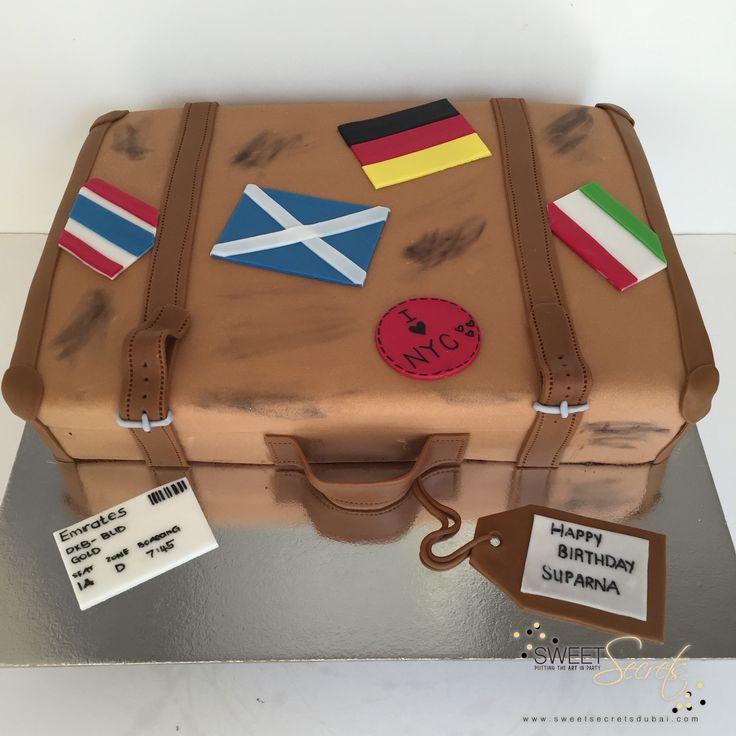 Travel Theme, Suitcase. Sweet Secrets, Novelty Cakes Dubai…