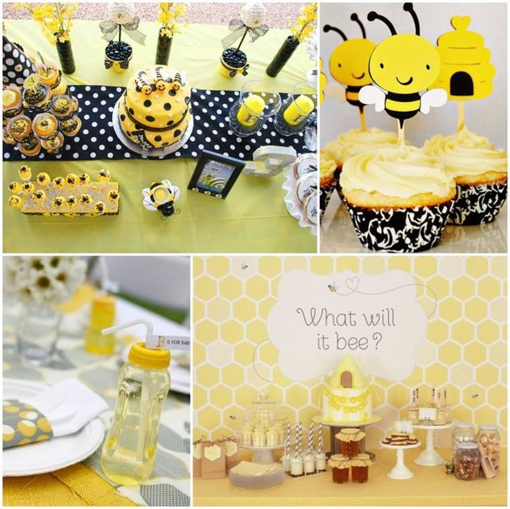 decoracion de baby shower de abejas