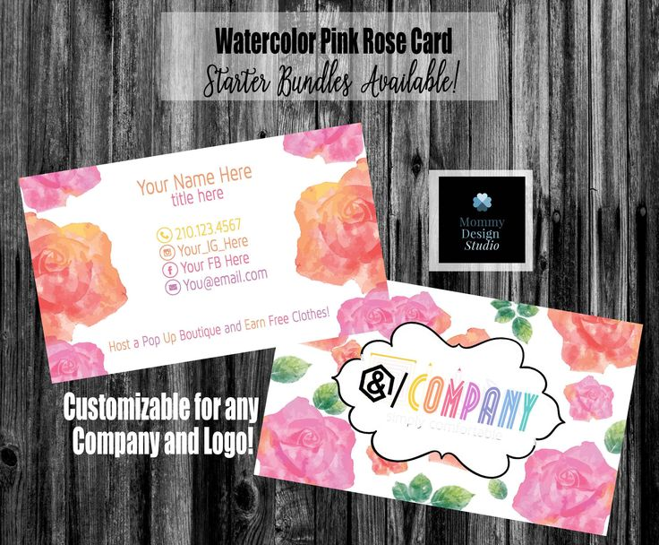 18 best posh business cards images on pinterest fonts script watercolor roses business card home office approved ho compliant fonts colors bundles reheart Image collections