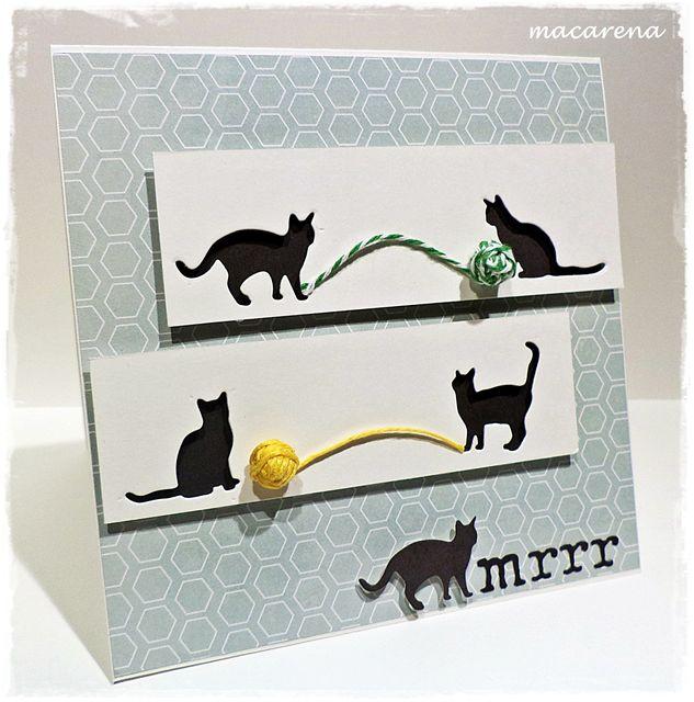 Кошка открытка объемная, открытки