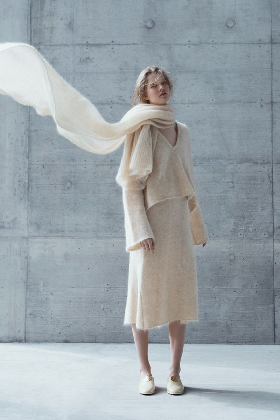 """wgsn: """"We love this ultra lightweight and soft knitted outfit by Swiss label Coltrane featured in the new A"""