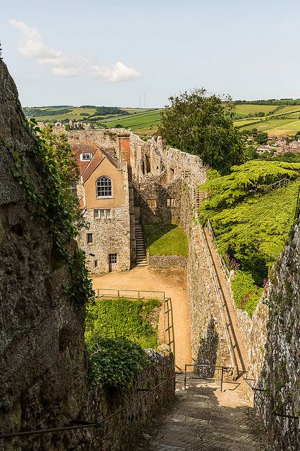 Carisbrooke Castle, in the village of Carisbrooke, near Newport, Isle of Wight, England.