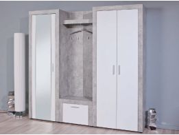 Garderobekast Concrete met Spiegel