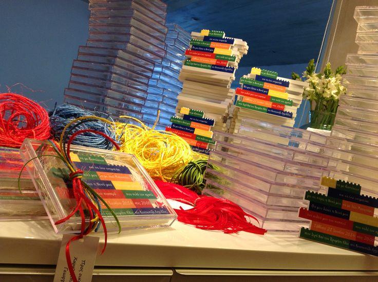 Invitation themed Lego.