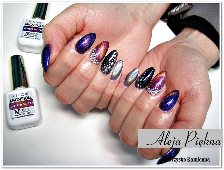Cat Eye effect and Mirror Holographic by Aleja Piękna for Nails Company