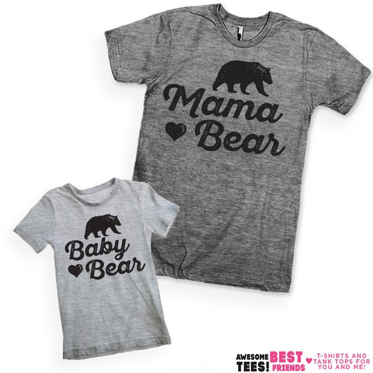 Mama Bear / Baby Bear Kid's & Mom's Shirts by AwesomeBestFriendsTs
