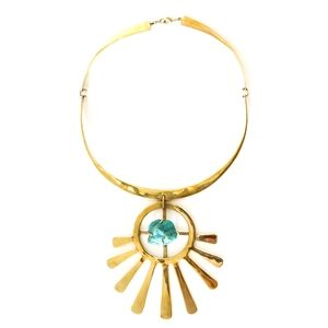 Blue Goddess Necklace by Bisjoux #jewelry #necklace #turquoise #fahion
