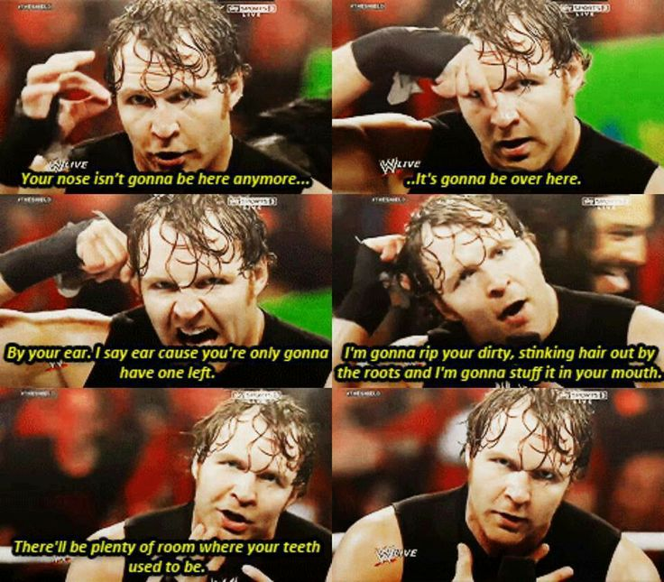 Dean Ambrose talking about how he's planning to hurt Seth Rollins after stabbing him in the back
