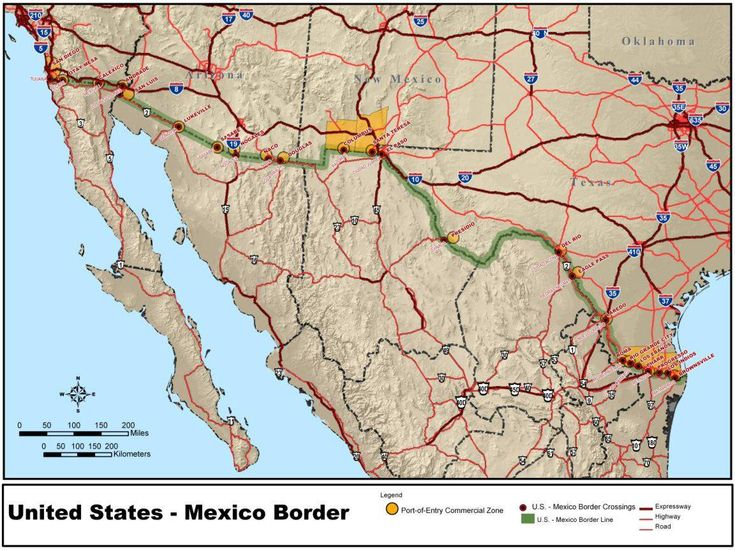 With 350 Million People Legally Crossing Annually The Us Mexico Border Is The Most Frequently Crossed Border