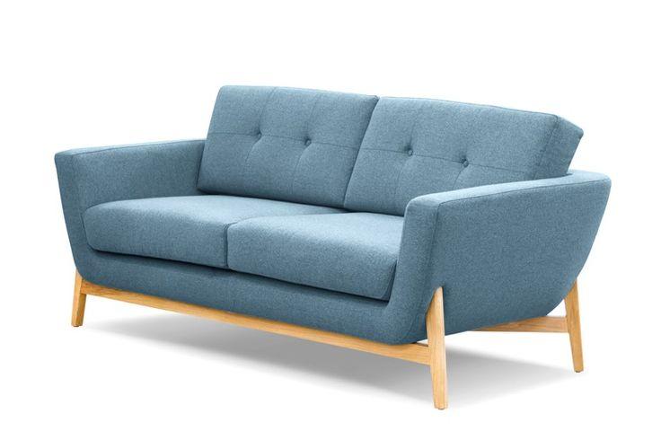 Blue Small 2 Seater Sofa Knebworth Blue | Bermondsey