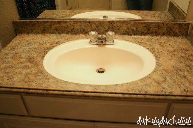 Dukes and Duchesses: Painted Granite Countertops