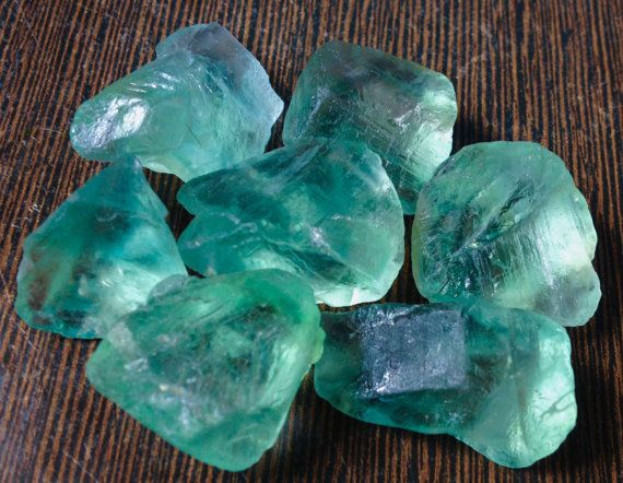 4-6 Pieces Rough Green Fluorite 100 grams Lot by SolsticeStore