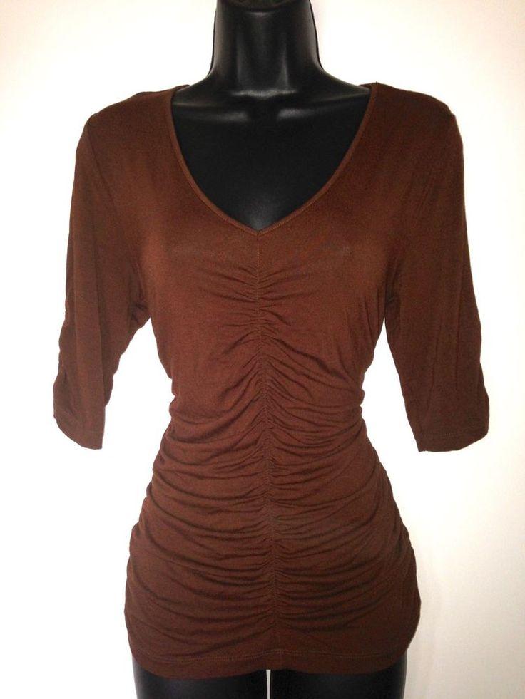 #CAbi #Sweater #Medium #Brown Women's Top Style 800 #Rouching #Sexy Cute  | #eBay